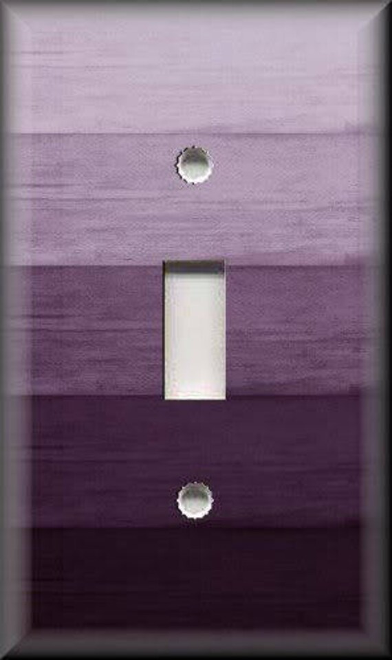 Metal Light Switch Plate Cover Ombre Home Decor Plum Purple Ombre Home Decor Wallplates Outlets Rocker Triple Quadruple Free Shipping