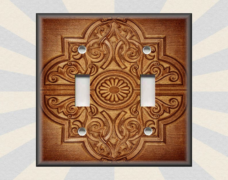 rustic copper switch plate covers
