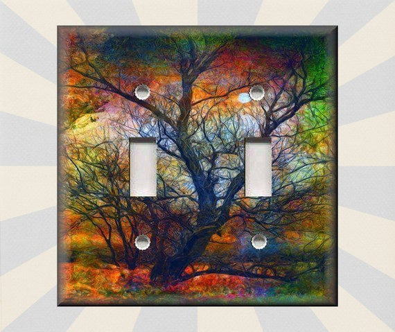 Metal Light Switch Plate Cover Abstract Art Modern Home Etsy