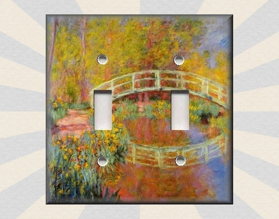 Metal Light Switch Plate Cover Monet Art Garden Bridge Monet Etsy