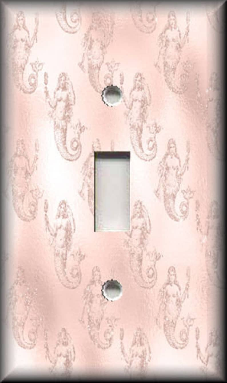 Metal Light Switch Cover Not Metallic Switch Plate Covers And Outlet Covers Blush Pink Mermaid Design Luna Gallery Free Shipping