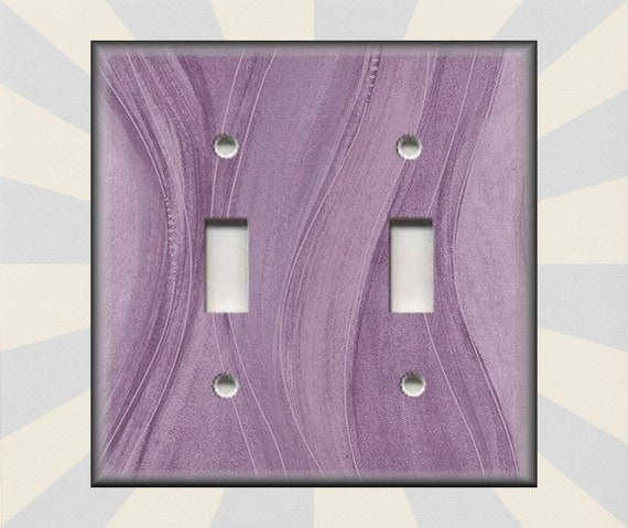 Double Toggle Lavender Switch Plate Art Plates