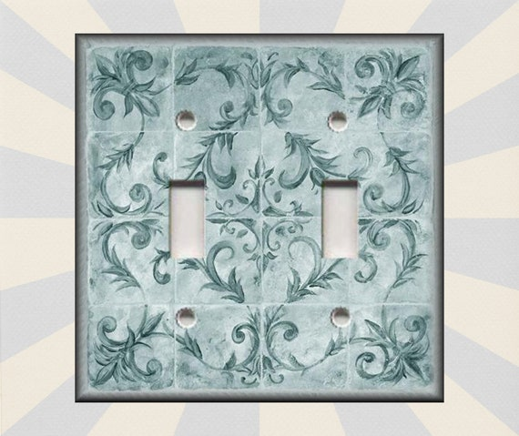 Metal Light Switch Covers - Kitchen Decor French Fleur De Lis Decor Teal  French Home Decor - Switch Plates And Outlet Covers Free Shipping