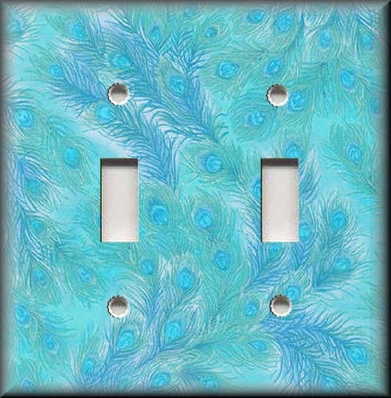 COLORFUL ELEPHANTS ABSTRACT ART TRIPLE LIGHT SWITCH WALL PLATES ROOM HOME DECOR