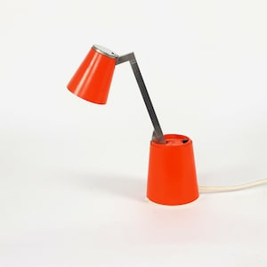 desk lamp from the 70s, travel lamp with 2-tap switch Vintage lampette telescopic table lamp