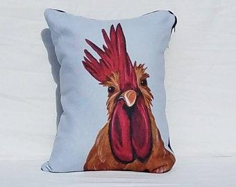 Rooster Pillow, throw pillow, accent pillow, decorative pillow, animal pillow, farm pillow, rooster, chicken, chicken pillow, farm decor