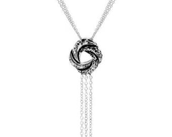Sterling Silver Algerian Love Knot Pendant Necklace (Inspired by James Bond)