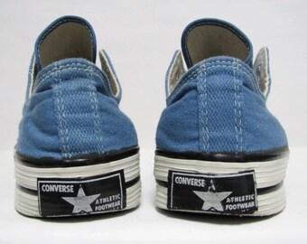 7ca1b84b127 Vintage 70s Converse Coach Black Label Lte Blue