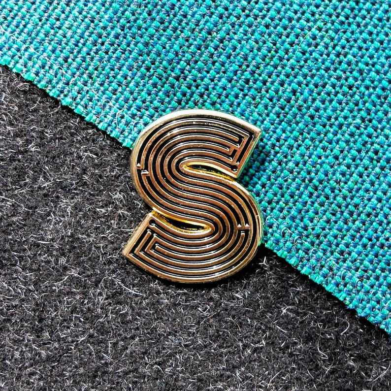 Labyrinth Letters  S  Enamel Pin image 0