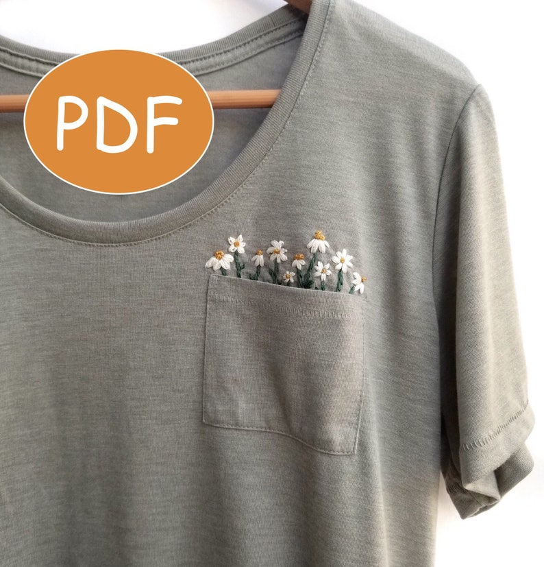 PDF DIGITAL Pattern Pocket Full of Daisies DIY  Thread image 0
