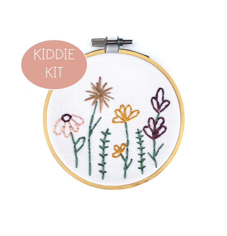 My Little Garden Embroidery KIT FOR KIDS with Pre-Printed image 0