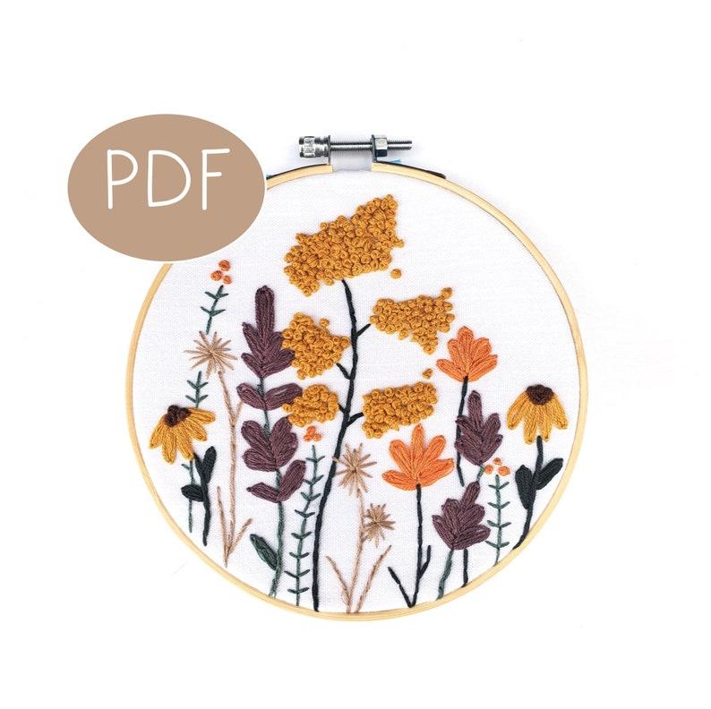 PDF DIGITAL Pattern Spring Florals DIY  Thread Unraveled  image 0
