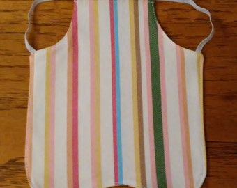 Chicken Saddle, Hen Apron, Colorful Stripes Design Fabric Feather Protector, Standard Size, Molting Hen Protection, Handmade, Free Shipping