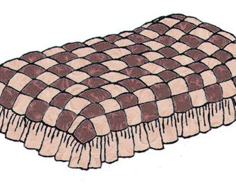 """Patch """"Puff"""" Quilt Pattern, King Size Quilt, Queen Size Quilt, Full Size Quilt, Twin Size Quilt,Quilt Pattern, PDF Downloadable PDF Pattern,"""