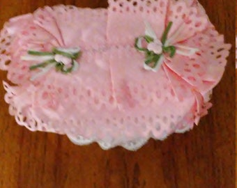 Tissue Box Cover, Rectangle, Pink Lace Tissue Box Cover, Pink Lace Rectangular Tissue Box Cover, Lace Tissue Box Cover, Free Shipping