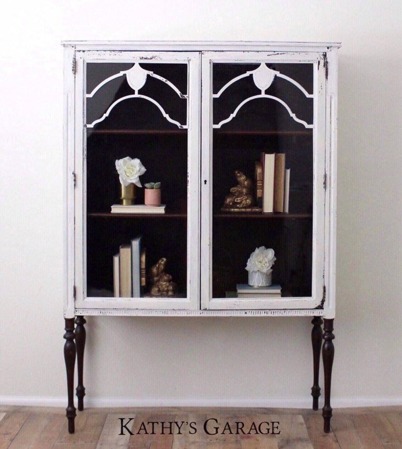 Outstanding Sold White Farmhouse Hutch Bookcase Bookshelf Chippy White And Wood Hutch Linen Cabinet Liquor Cabinet China Hutch Bar Cabinet Home Interior And Landscaping Transignezvosmurscom