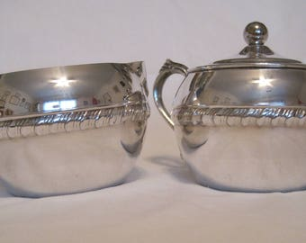 Sweet Silverplate Creamer and Sugar