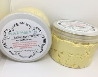 Whipped homemade  shea and cocoa body butter 12oz