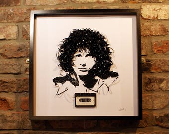 The Doors- Jim Morrison- Cassette tape art- Gifts for music lovers- Gifts for him- Gifts for her- Original artwork- Commissioned- Rock Music