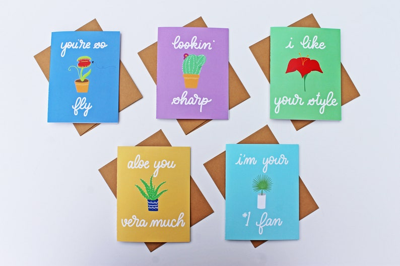 Flattery by Flora Hand-Lettered Digital Illustration Card Pack