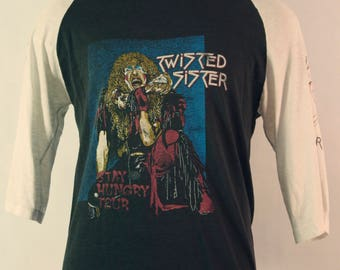 1980's Vintage Twisted Sister Concert shirt Stay Hungry Tour
