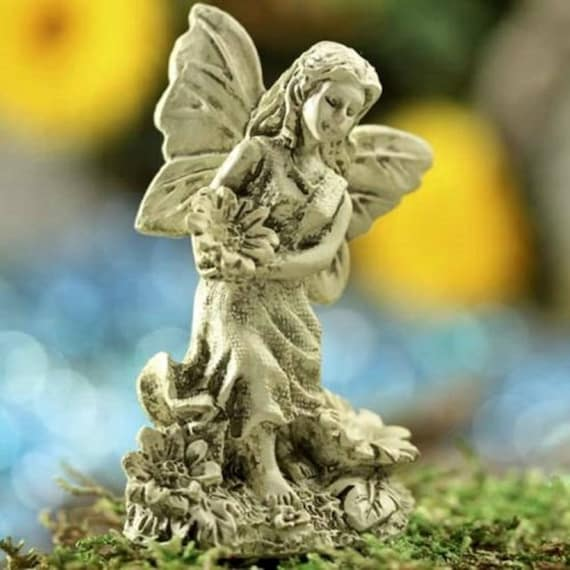 Exceptionnel Yard U0026 Garden Miniature Fairy Garden Statue Antiqued Ivory | Etsy
