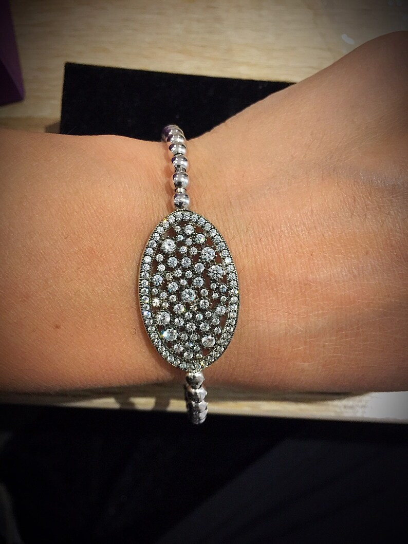 Tennis Bracelet Christmas gift .925 Sterling Silver Prom Gift