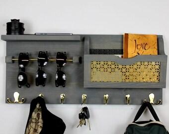 entryway key holder and organizer