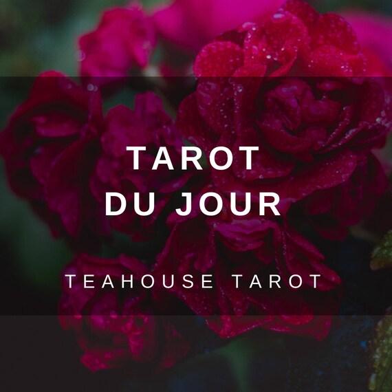 Lecture du Tarot Tarot Du Jour un lecteur de cartes même   Etsy 1ac49e516a1f