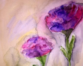 Original Flower Painting   Original hand-painted Watercolor