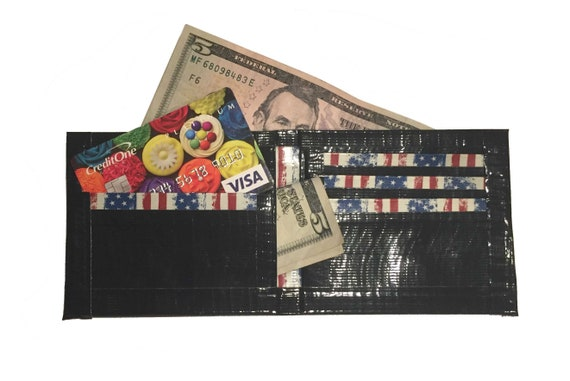 499655a275c Distressed American Flag Duct Tape Wallet
