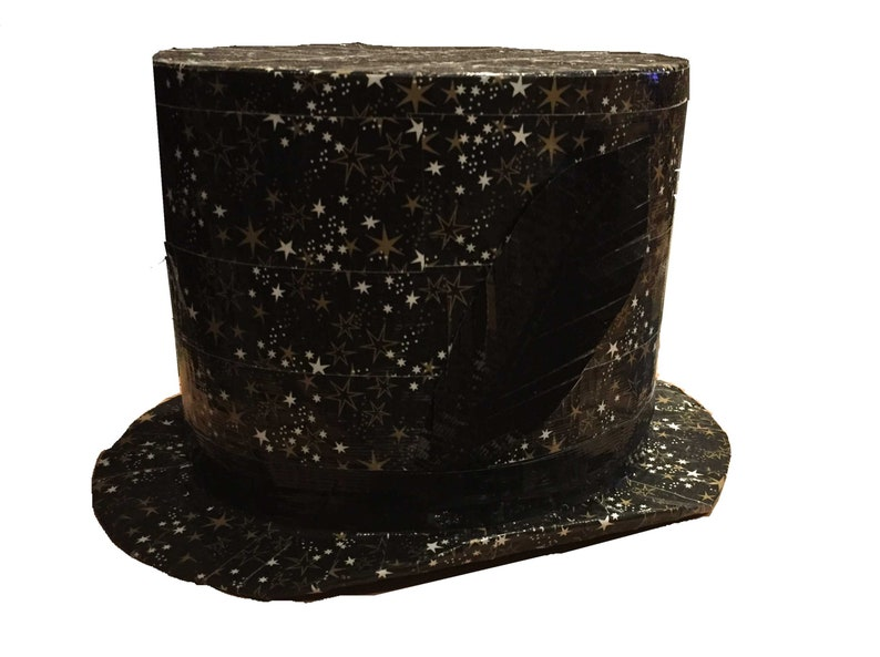 Stars Duct Tape Top Hat