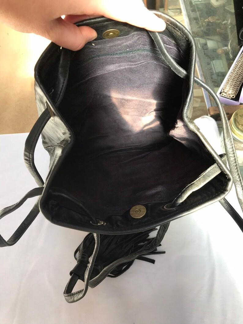 Cow hide with matrix opal shoulder bag T409