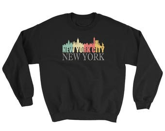 Trendy Retro 1970's New York City Skyline Sweatshirt