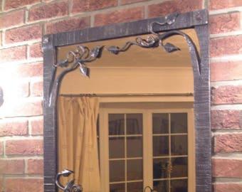 wrought iron mirror bespoke forged ironwork