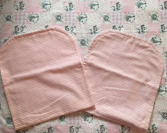 Baby's receiving blanket and 2 burp cloths (matching)