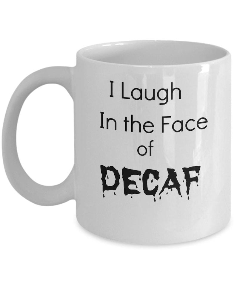 Death before decaf enamel mug by pyknic