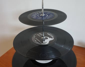 Vinyl Record 3-tier Cake Stand