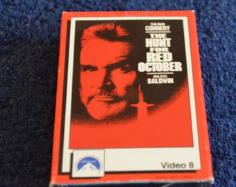 Video 8, The Hunt for Red October, Staring Sean Connery and Alec Baldwin, 8 mm movie tape