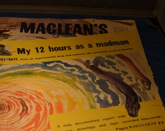 1953 Maclean's Magazine Lots of old Ads