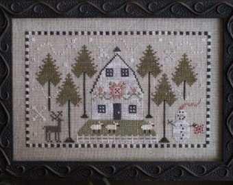 sheep snowman KIT Flake and Wooley 3D design in wool and flannel Stocking and garland!