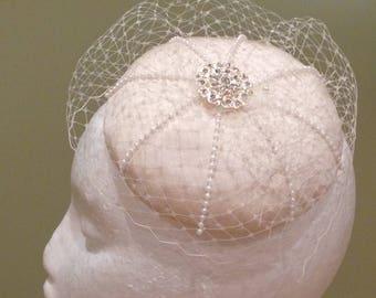 Beautifully handmade birdcage veil bridal once off