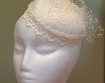 Beautiful handmade bespoke birdcage veil bridal wedding