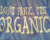 "Quote Postcard, ""Don't Panic, it's Organic"""