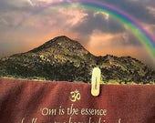 OM, Spiritual Yoga and Buddhist Postcard, made with love