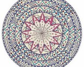 "Mandala Greeting Card, drawn with love, ""The Festivity"""