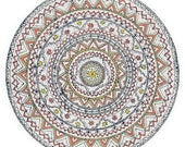 "Mandala Greeting Card, drawn with love, ""The Solar cycle"""