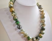 Beach nature, paper bead necklace, made with love