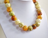 "Featherlight Paper bead necklace, ""Shining Gold"", made with love"