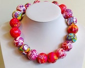 Lollipop, Paper bead necklace, made with love